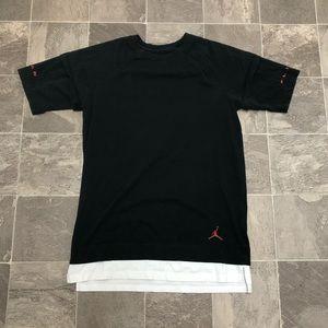 Men's air Jordan jumpman logo layered t shirt sz S
